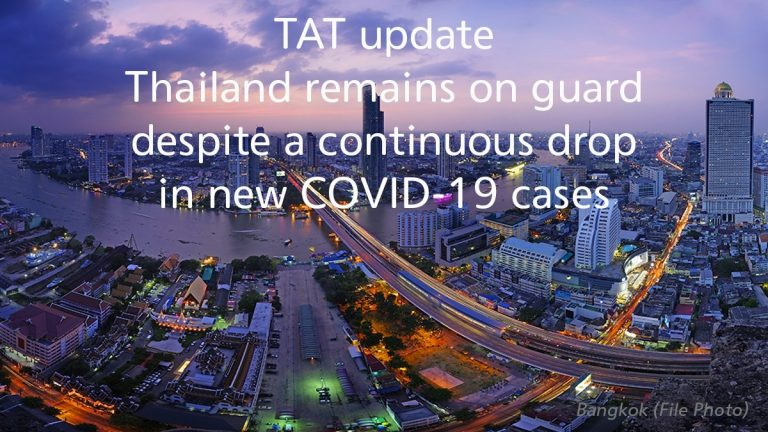 TAT update: Thailand remains on guard despite a continuous drop in new COVID-19 cases