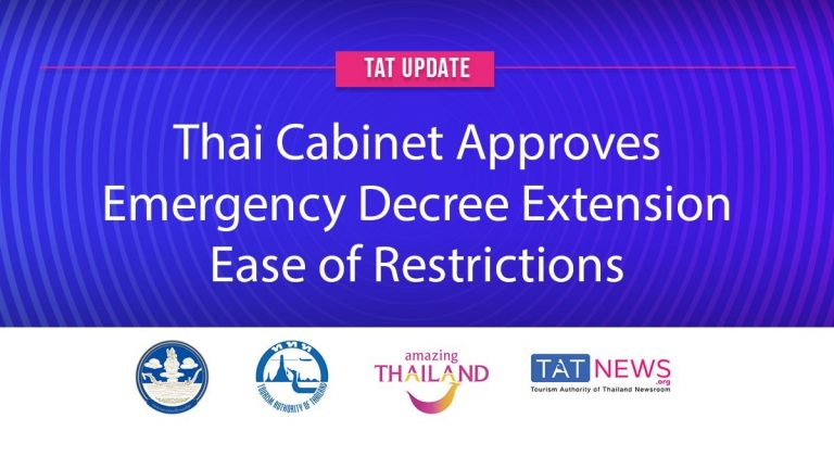 TAT update: Cabinet approves one-month Emergency Decree extension, ease of restrictions